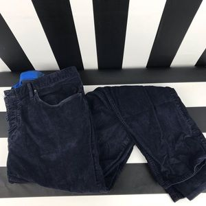 f07f789056 Burberry Brit Dark Blue Corduroy Straight Leg Pant